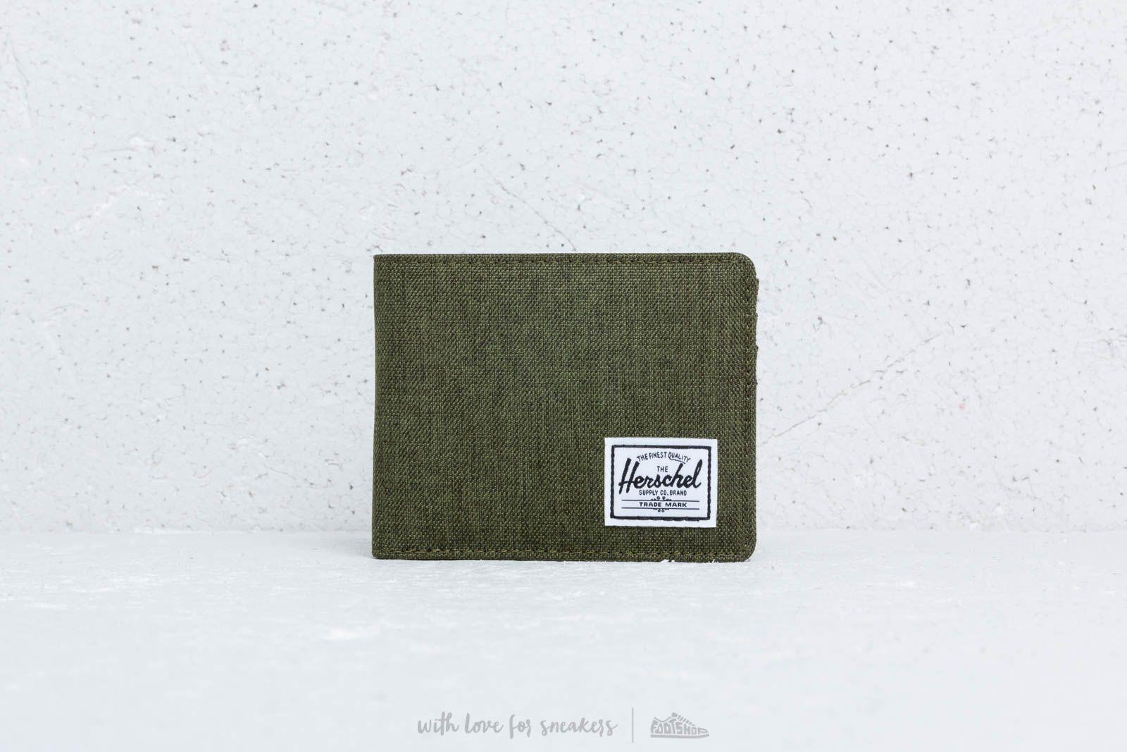 Herschel Supply Co. Roy Wallet Olive Night Crosshatch za skvelú cenu 29 € kúpite na Footshop.sk