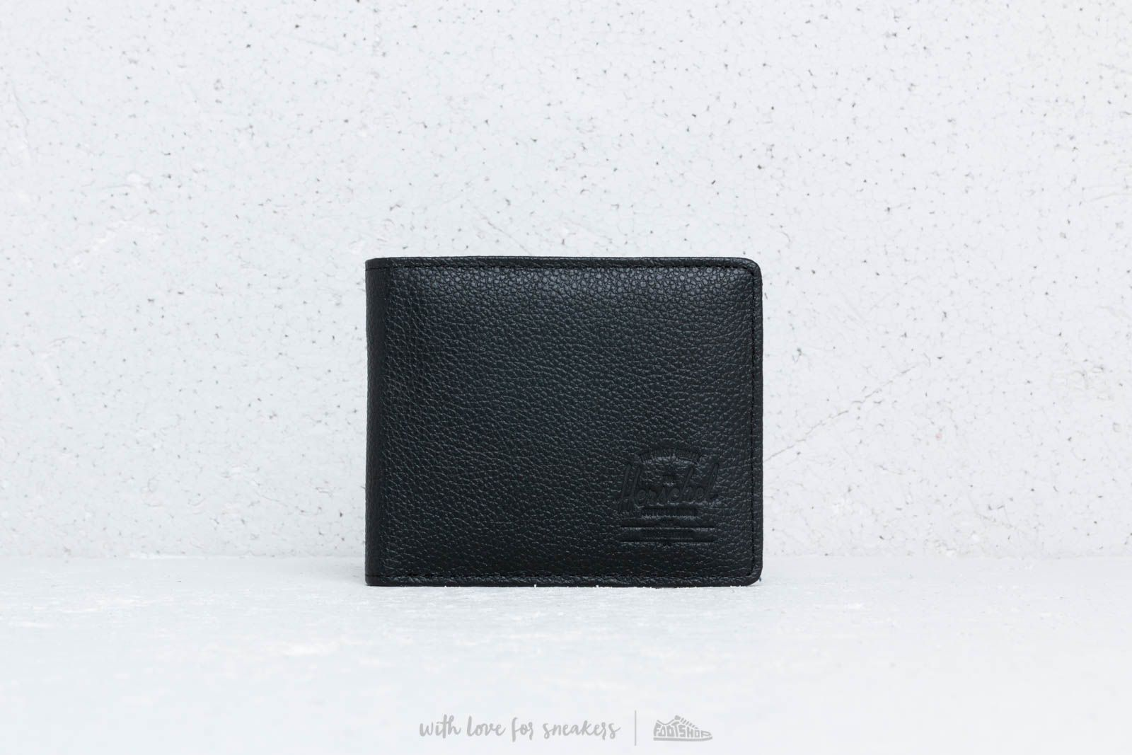 Portafogli Herschel Supply Co. Roy Wallet Black Pebbled