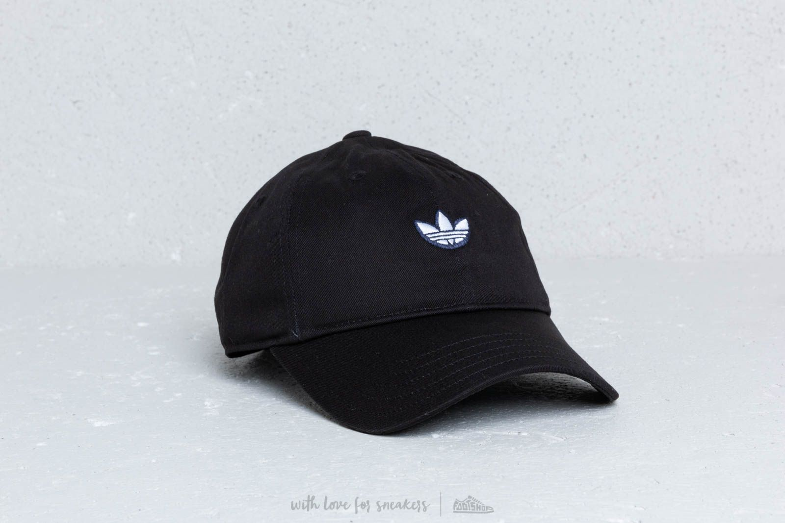 870ac66aa adidas Originals Samstag Dad Cap Black/ White/ Gold Met | Footshop