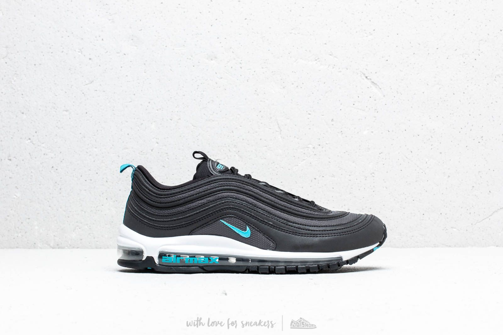 new york ea4c7 c3209 Nike Air Max 97 Black  Blue Fury-Dark Grey at a great price £