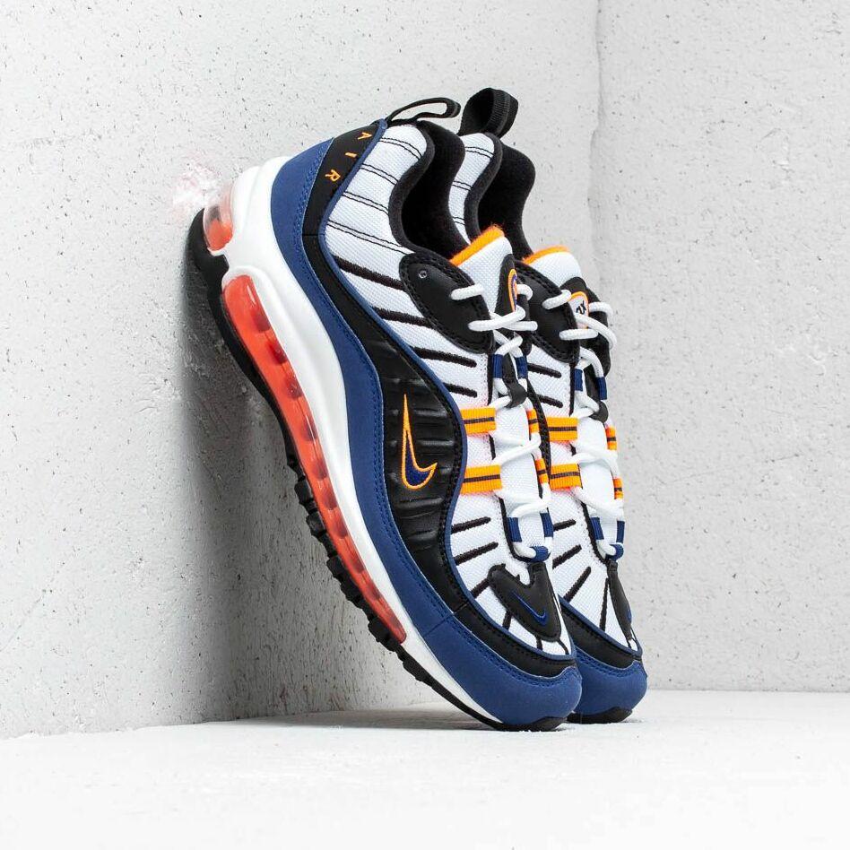 Nike Air Max 98 White/ Deep Royal Blue-Total Orange-Black EUR 43