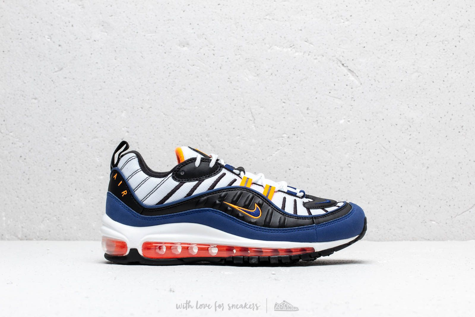 a0b1b7c21c Nike Air Max 98 White/ Deep Royal Blue-Total Orange-Black | Footshop