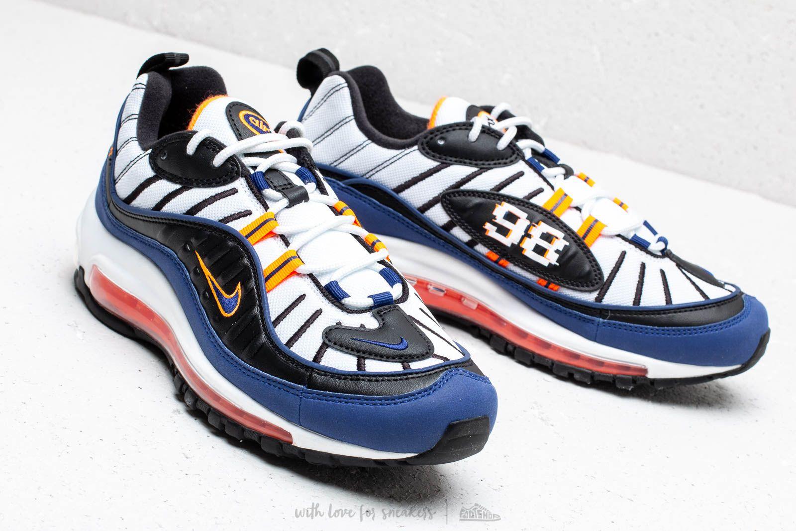 low priced sale retailer best online Nike Air Max 98 White/ Deep Royal Blue-Total Orange-Black | Footshop