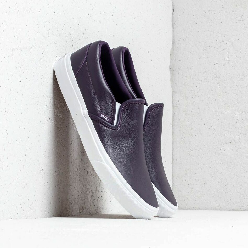 Vans Classic Slip-On (Leather) Mysterioso/ True, Purple