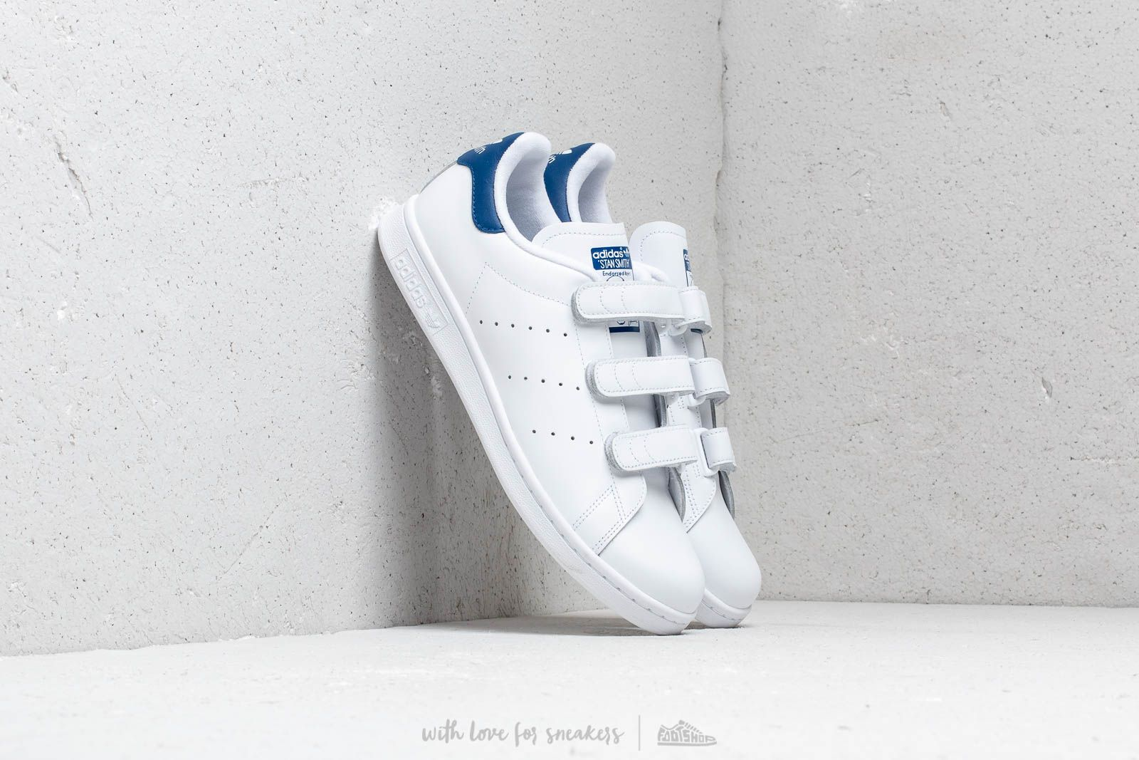 Chaussures et baskets homme adidas Stan Smith CF Ftw White/Collegiate Royal