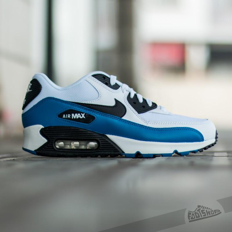Nike Air Max 90 Essentials WhiteBlack Military Blue Neutral