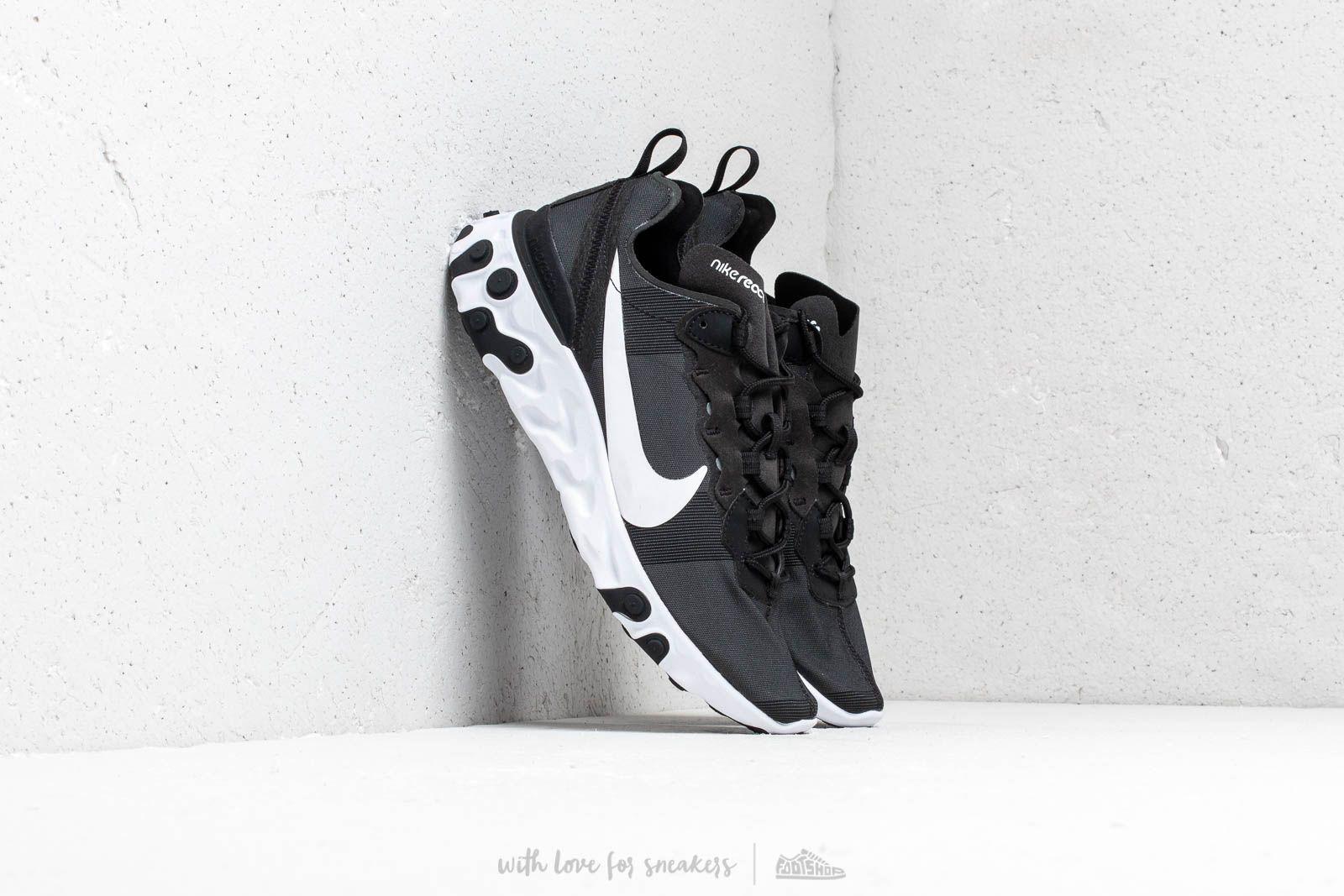 Nike React Element 55 Black/ White za skvelú cenu 121 € kúpite na Footshop.sk
