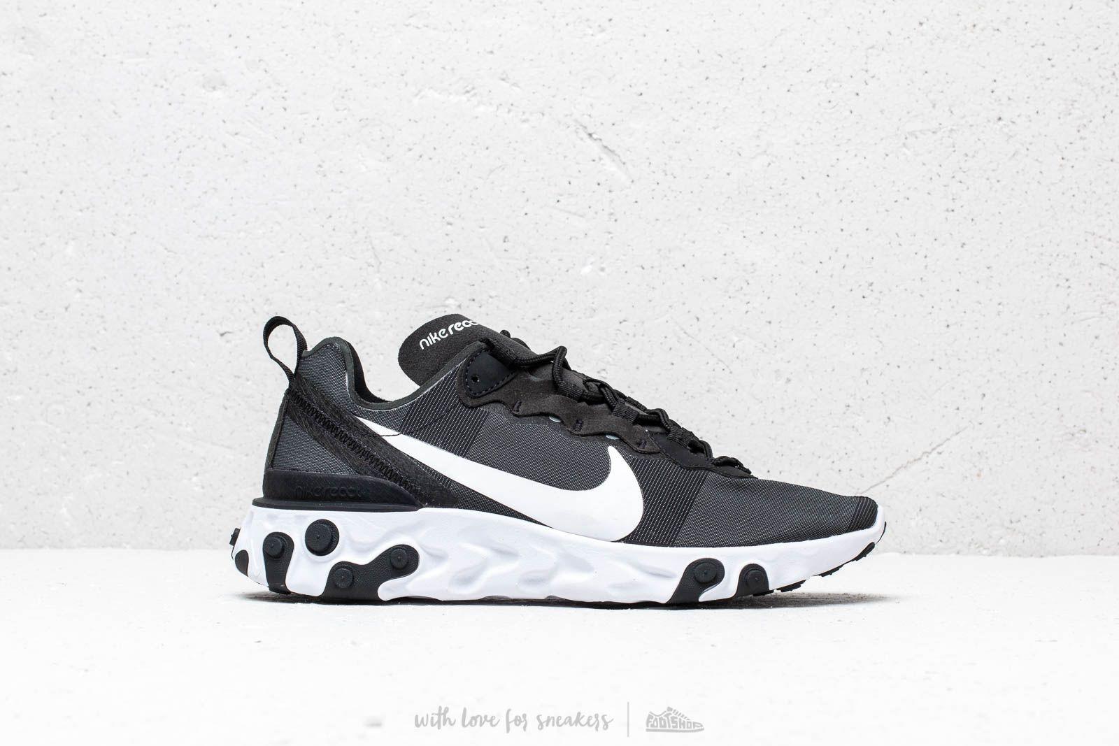6cd2481f1ba Nike React Element 55 Black  White a muy buen precio 122 € comprar en  Footshop