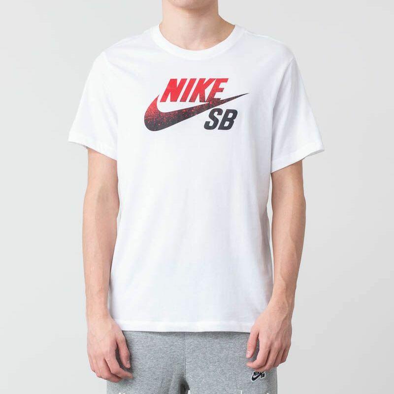 Nike SB Dri-FIT Tee White/ Black/ University Red L