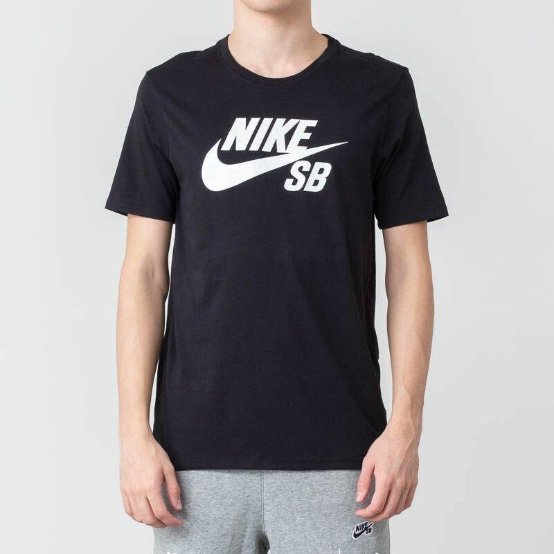 Nike SB Logo Tee Black/ White XL