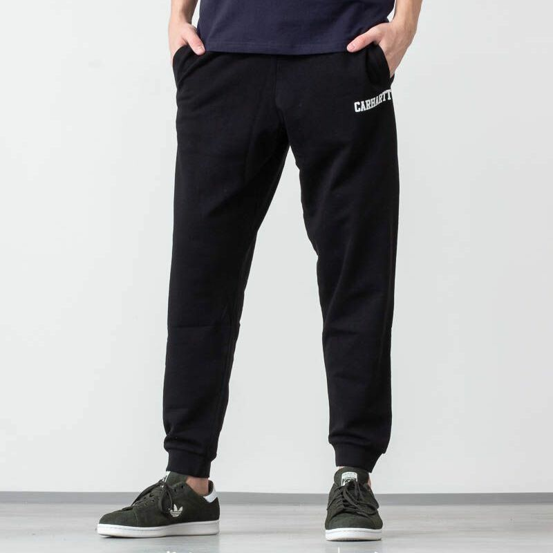 Carhartt WIP College Sweat Pant Black/ White