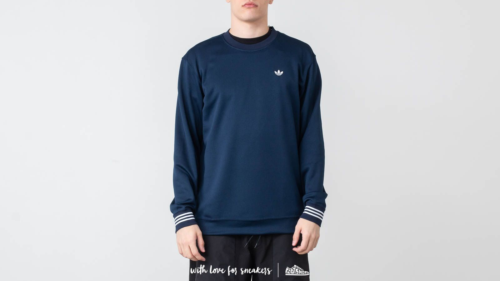 Hoodies and sweatshirts adidas Pique Crewneck Night Indigo