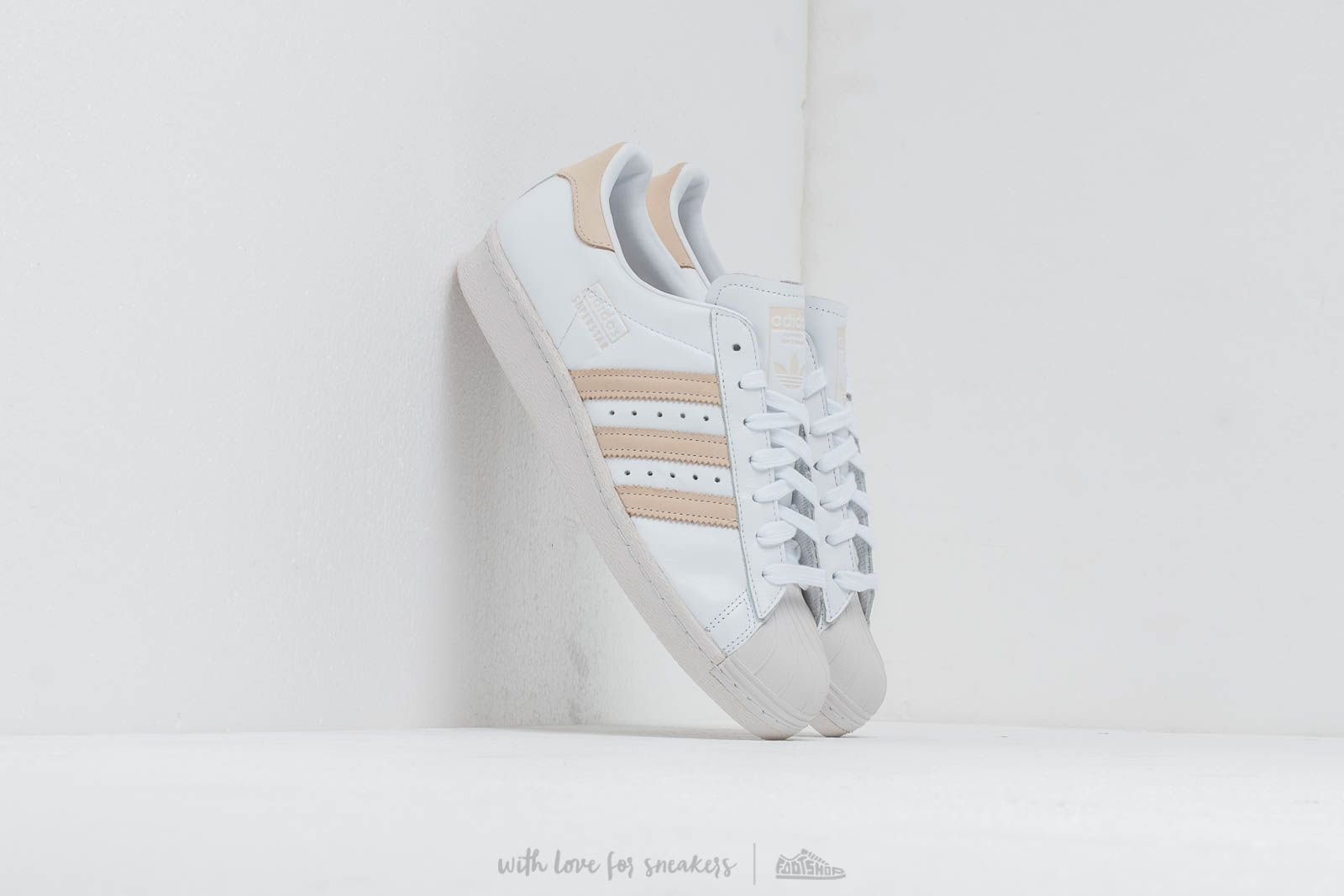 Chaussures et baskets homme adidas Superstar 80S Ftw White/ Ecrtin/ Crystal White