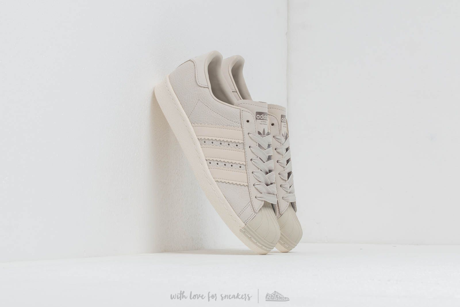 the latest 74252 ef1fc adidas Superstar 80S W Cream Brown  Cream Brown  Off White at a great price