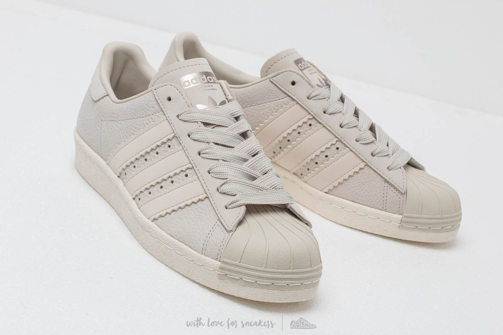 adidas Superstar 80S W Cream Brown Cream Brown Off White | Footshop