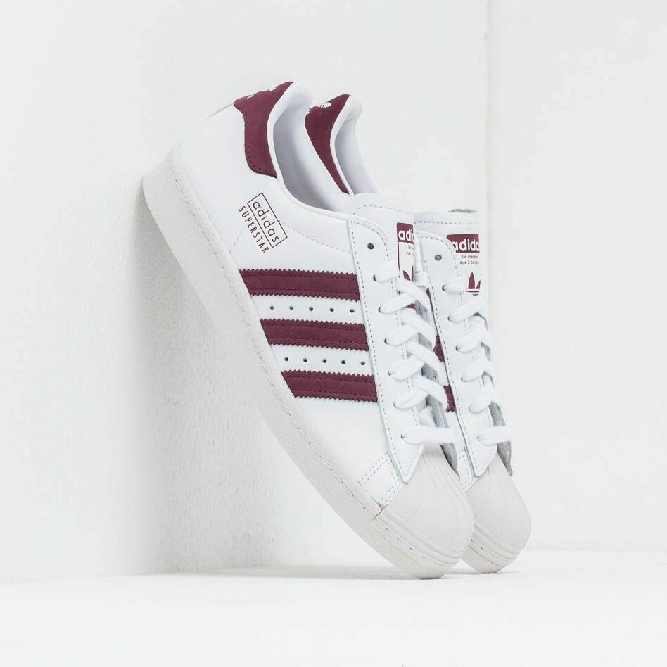 adidas Superstar 80S Ftw White/ Maroon/ Crystal White EUR 47 1/3