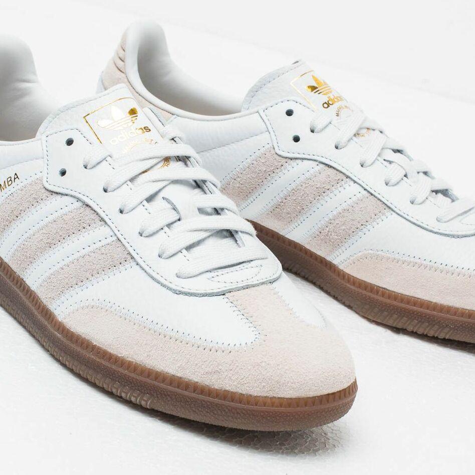 adidas Samba Og Ft Crystal White/ Raw White/ Gold Metalic