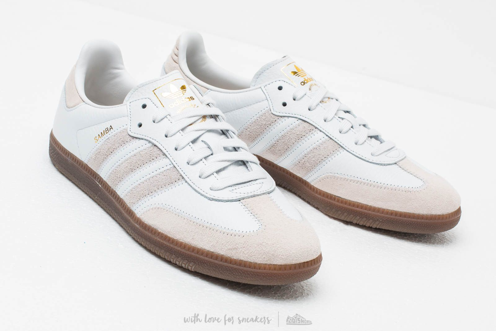 Inseguro Mojado lineal  Men's shoes adidas Samba Og Ft Crystal White/ Raw White/ Gold Metalic    Footshop
