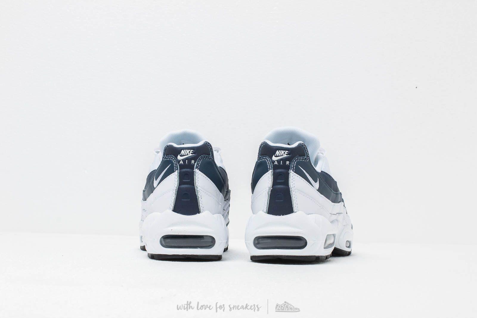 Nike Air Max 95 Essential White White Midnight Navy Monsoon