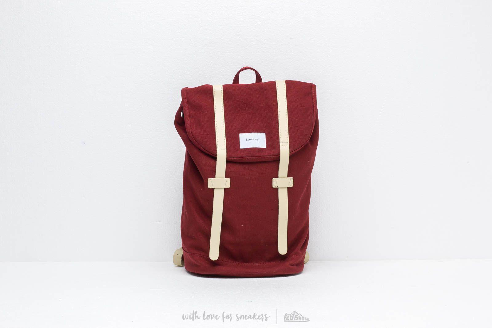 SANDQVIST Stig Backpack Burgundy Natural za skvelú cenu 125 € kúpite na Footshop.sk