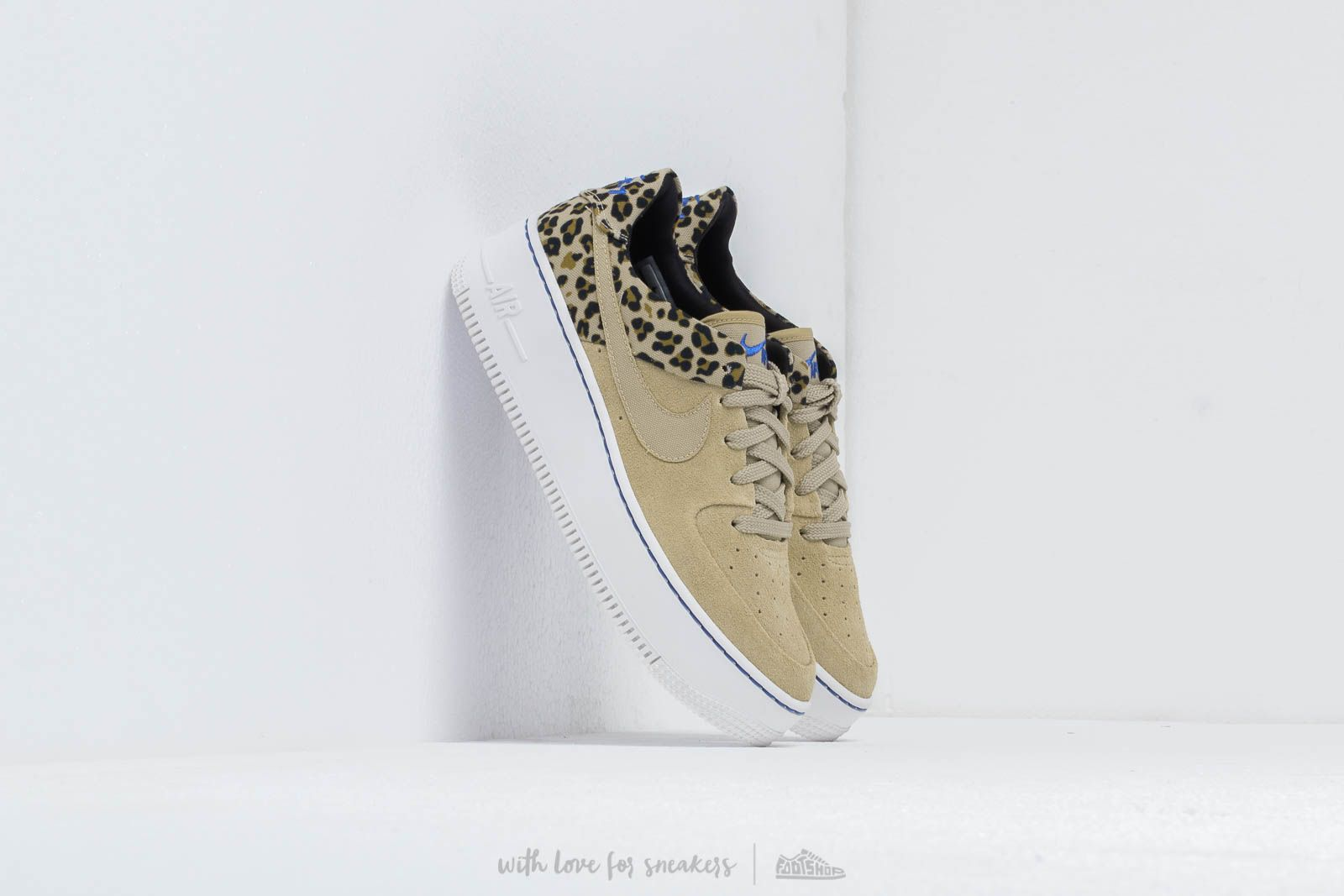 new arrivals 633b4 f8913 Nike W Air Force 1 Sage Low Premium Desert Ore  Racer Blue-Black-