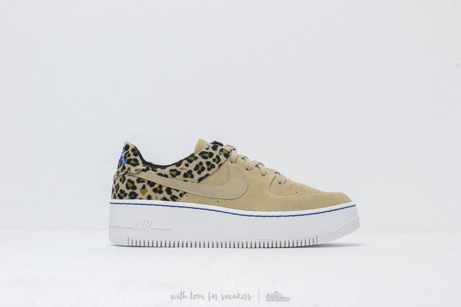 d3dc9c60e0e4 Nike W Air Force 1 Sage Low Premium Desert Ore/ Racer Blue-Black ...
