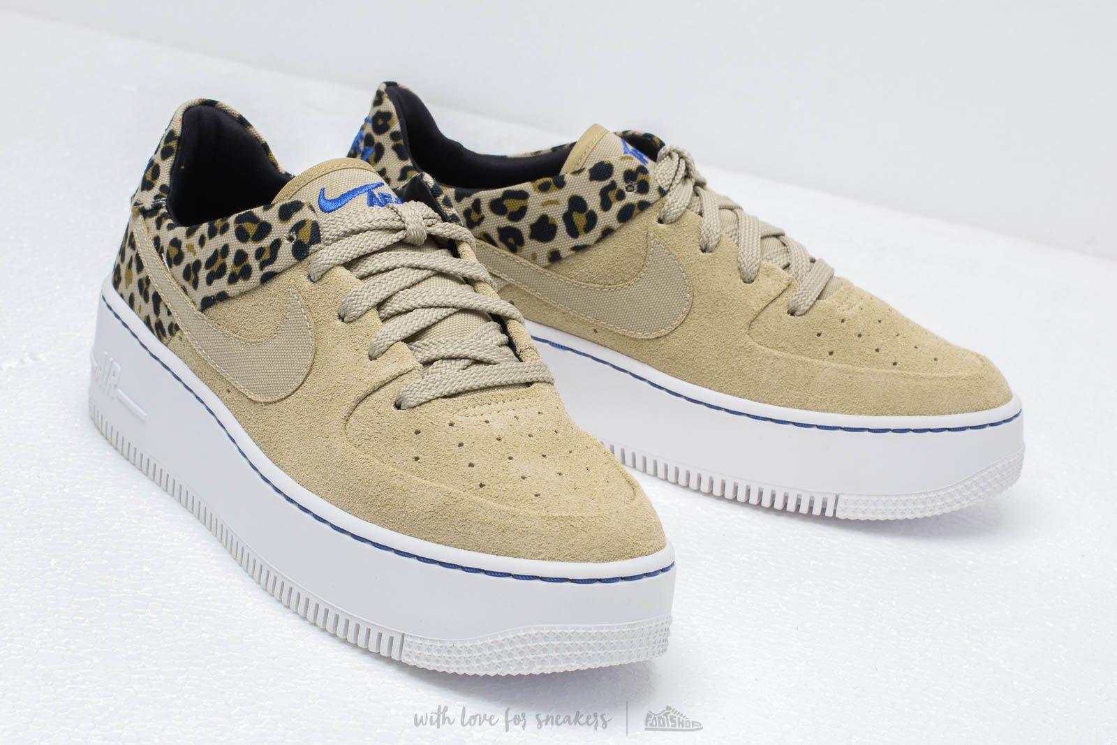 Nike W Air Force 1 Sage Low Premium Desert Ore Racer Blue Black Wheat | Footshop
