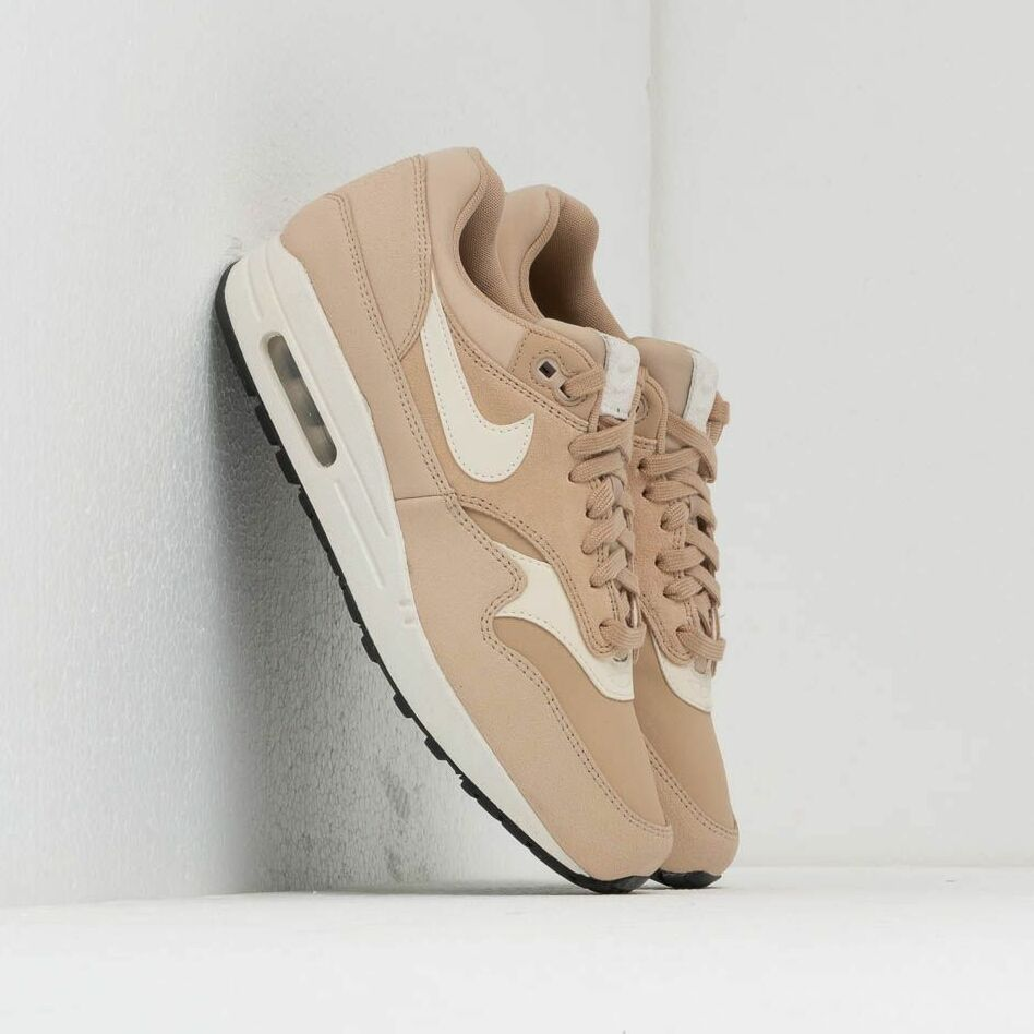 Nike Wmns Air Max 1 Prm Linen/ Pale Ivory-Summit White-Black EUR 40.5