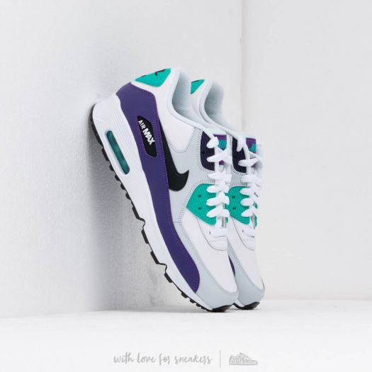 Nike Air Max 90 Ltr (GS) White Black Hyper Jade Court Purple | Footshop