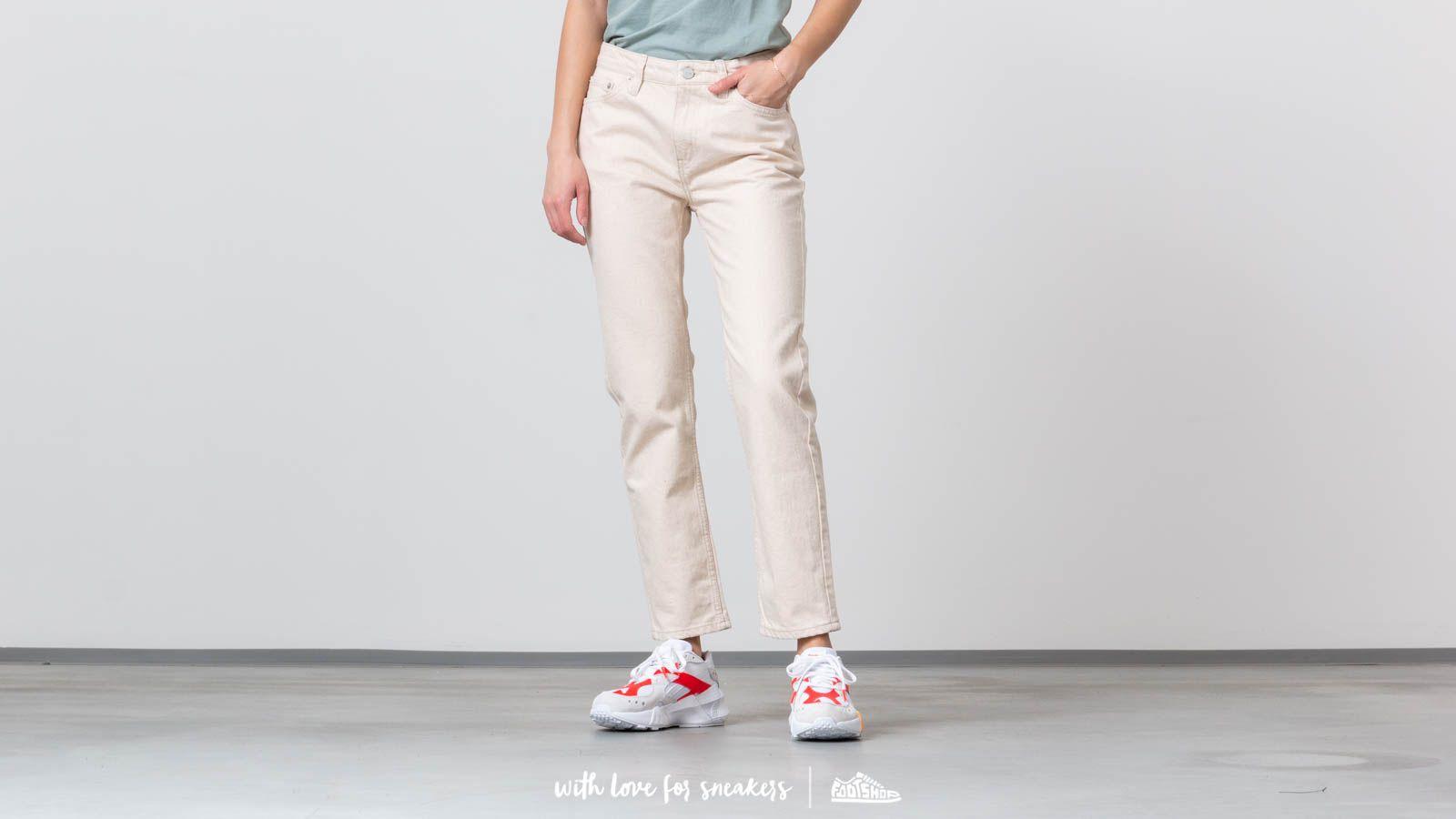 Platnene hlače WOOD WOOD Eve Jeans Off-White