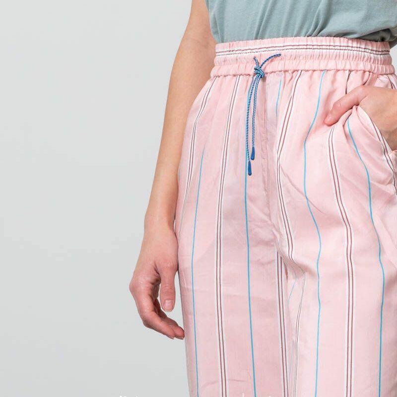 WOOD WOOD Darla Trousers Light Rose Stripe, Pink