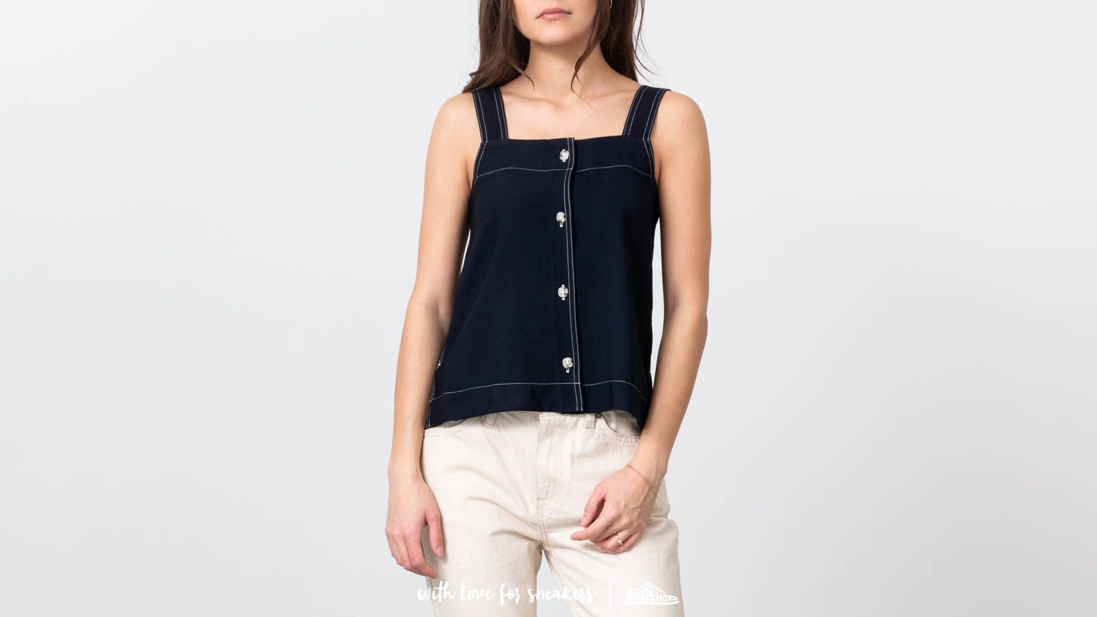 Topy WOOD WOOD Namira Top Navy