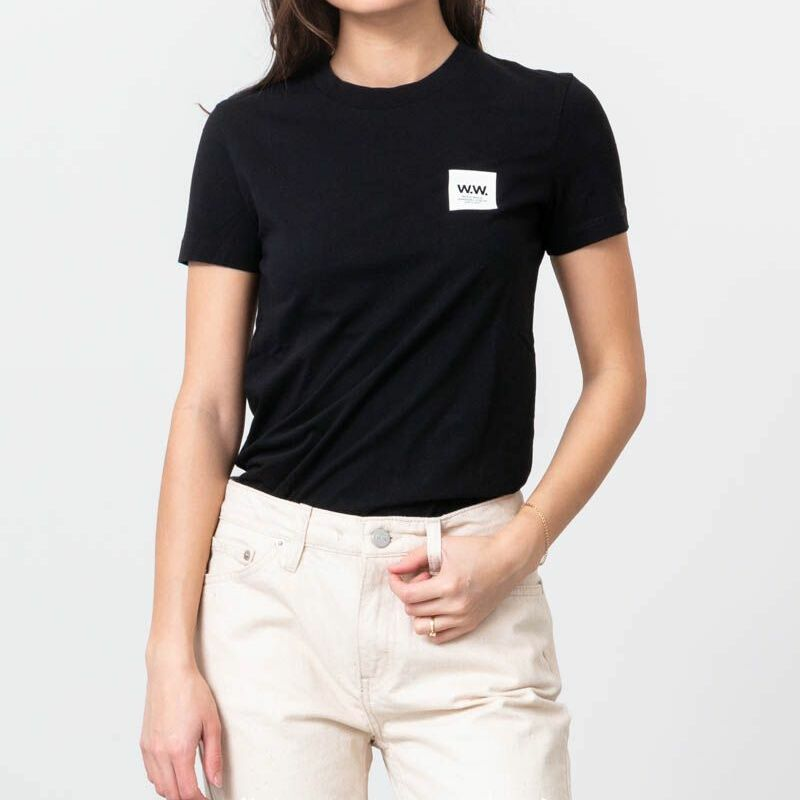 WOOD WOOD Eden Tee Black
