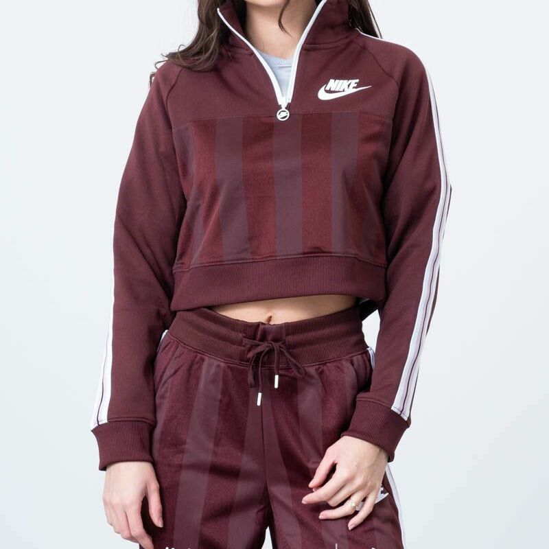 Nike Wmns Long Sleeve Top El Dorado Plum Chalk White