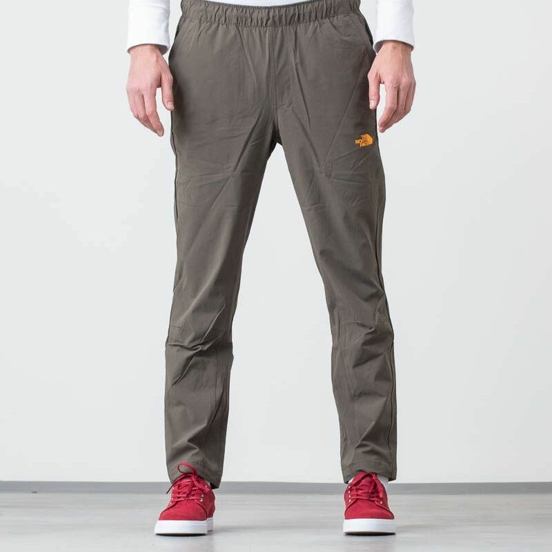 The North Face Tech Woven Pants New Taupe Green/ Zinnia Orange