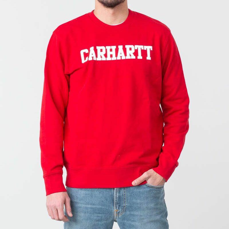 Carhartt WIP College Sweat Cardinal/ White, Red