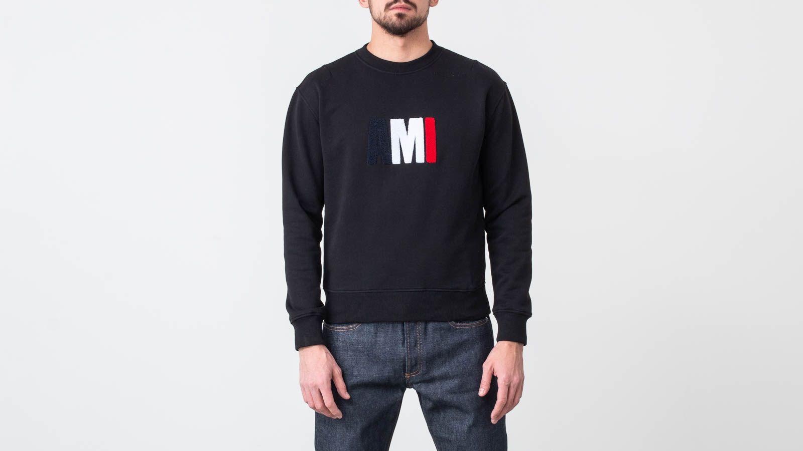 Mikiny a svetry Alexandre Mattiussi Big Ami Sweatshirt Black