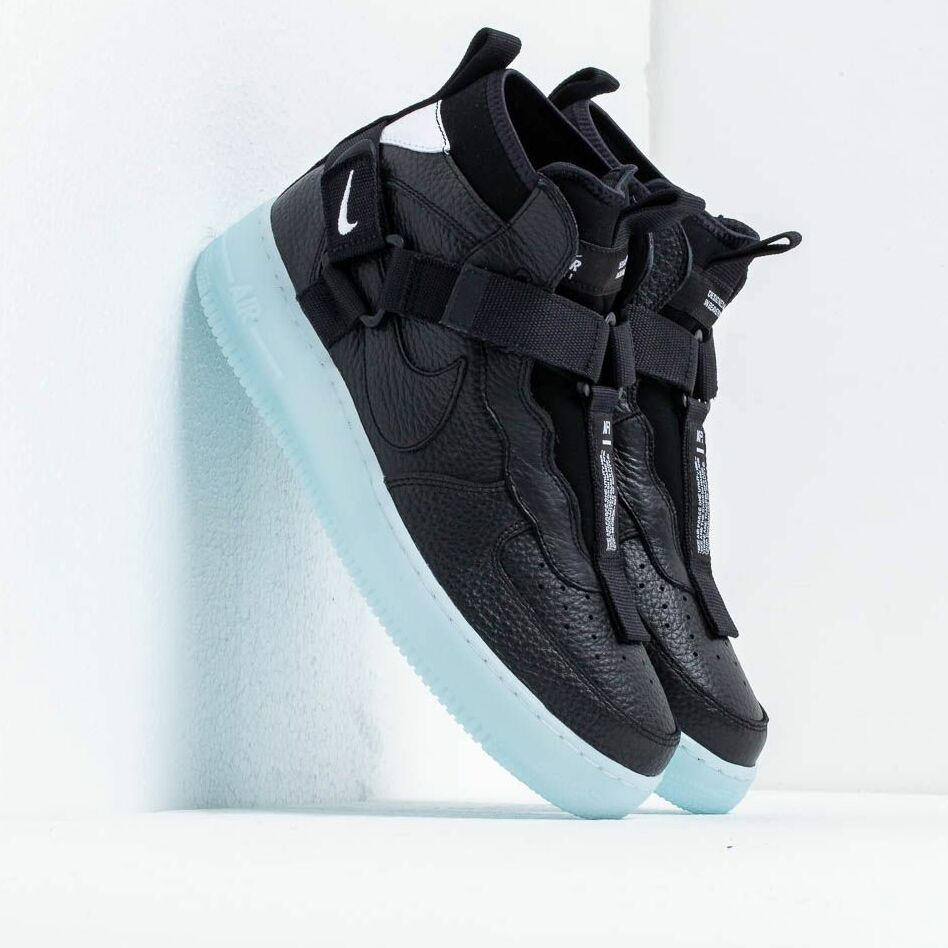 Nike Air Force 1 Utility Mid Black/ Half Blue-White EUR 45.5