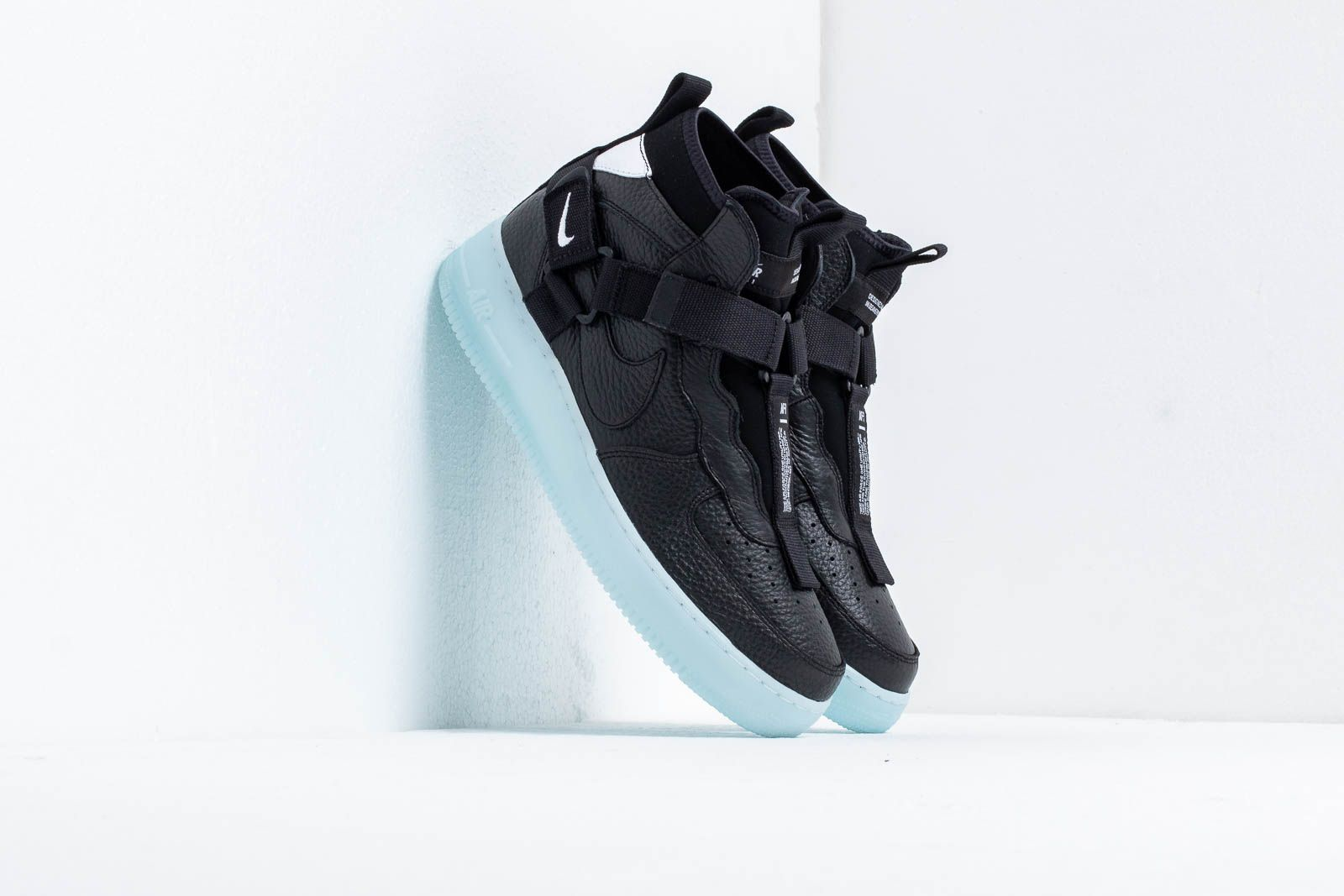 watch bed9c 0e927 Nike Air Force 1 Utility Mid Black Half Blue-White at a great price