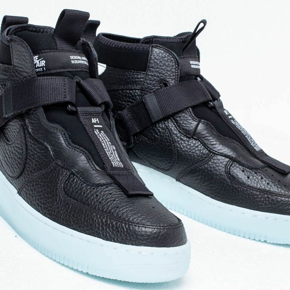 Nike Air Force 1 Utility Mid Black Half Blue White Buy At The