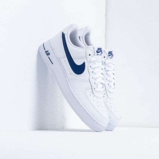 Nike Air Force 1 '07 3 White Deep Royal | Footshop