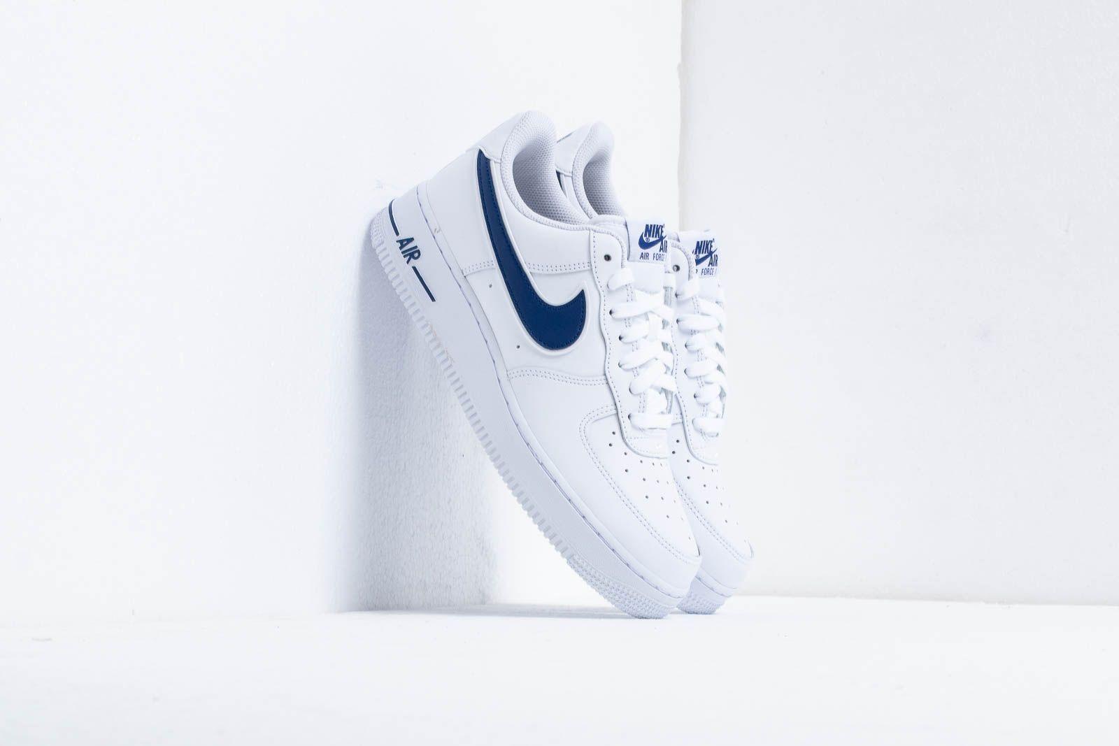 Nike Air Force 1 07 3 Uomo, White Deep Royal | Graffitishop