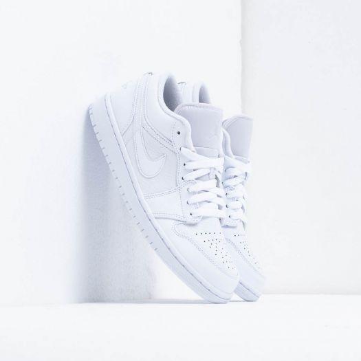 100% authentic 3881c 102a9 Air Jordan 1 Low White/ Pure Platinum-White | Footshop