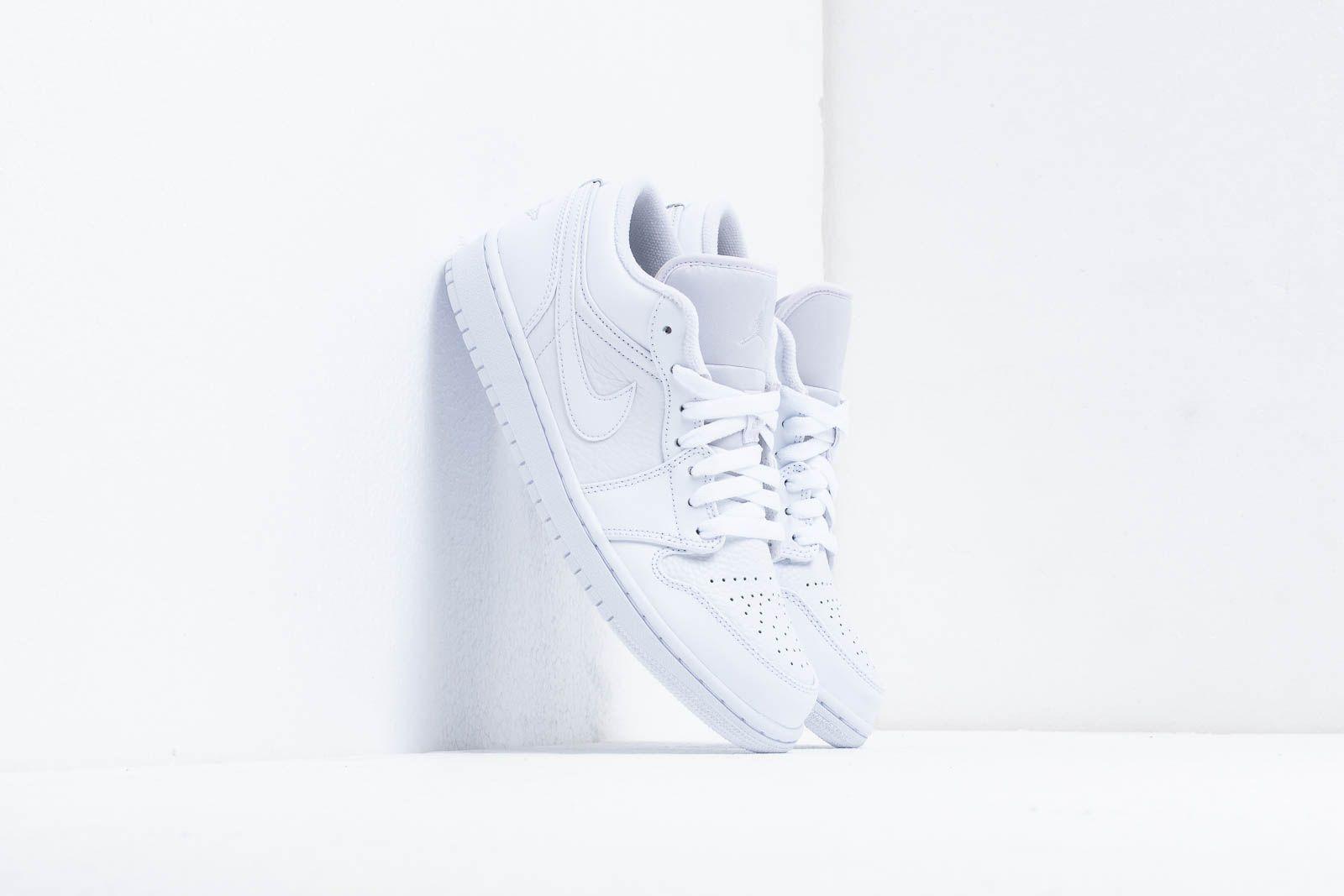 Air Jordan 1 Low White/ Pure Platinum-White