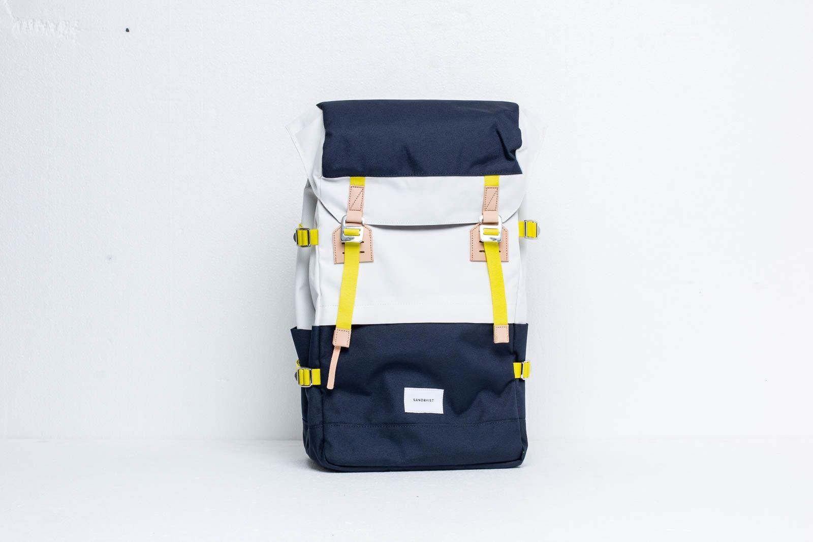 SANDQVIST Harald Backpack Multi Off-White/ Blue With Natural za skvelú cenu 107 € kúpite na Footshop.sk