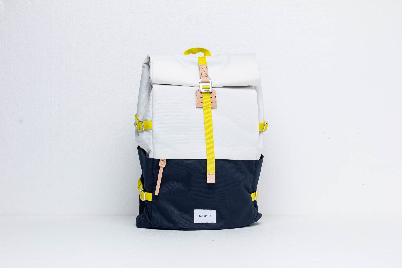 SANDQVIST Bernt Backpack Multi Off-White/ Blue With Natural