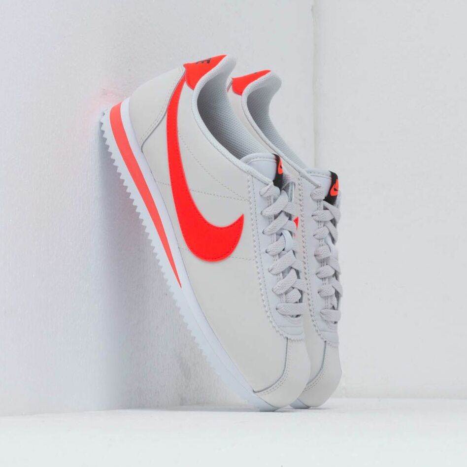 Nike Wmns Classic Cortez Leather Platinum Tint/ Bright Crimson-Black-White EUR 38