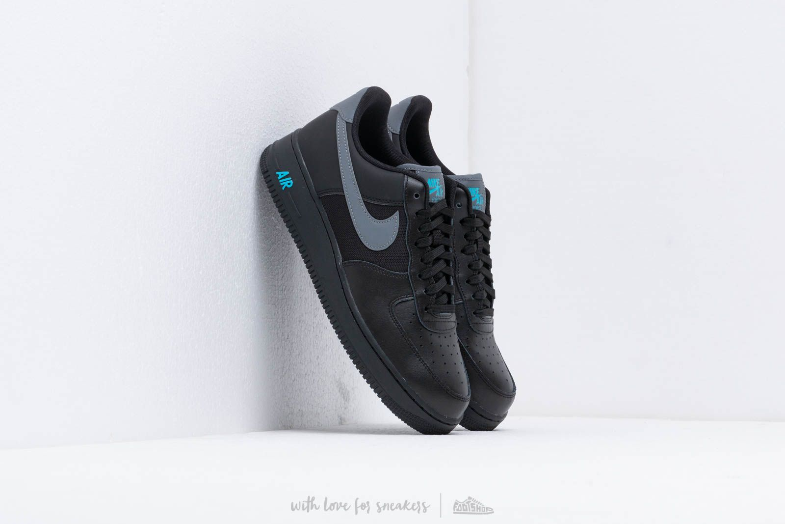 Nike Air Force 1 '07 Lv8 Black/ Cool Grey-Blue Fury