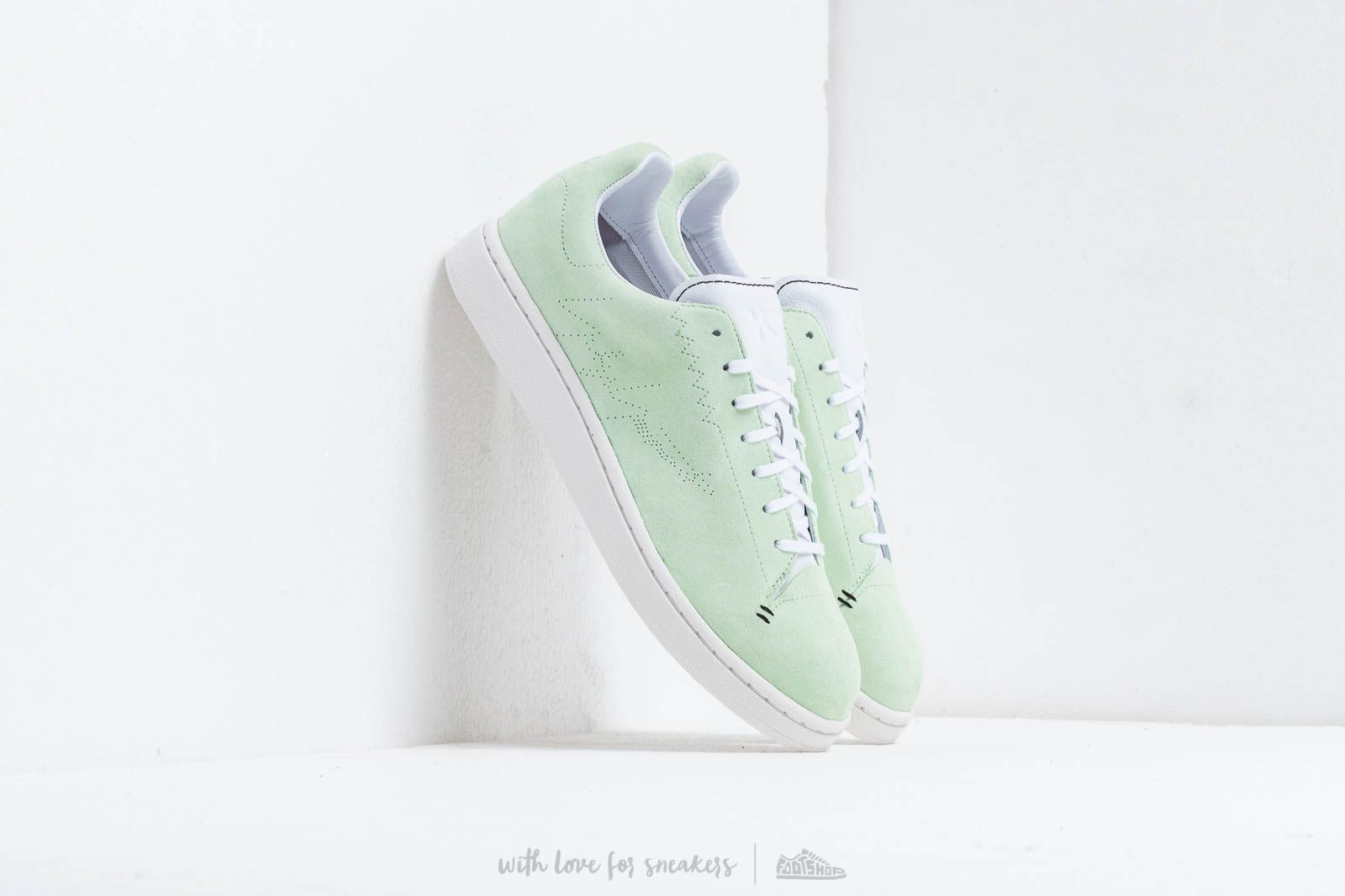 Pánské tenisky a boty Y-3 Yohji Court Green/ Ftw White/ Core White