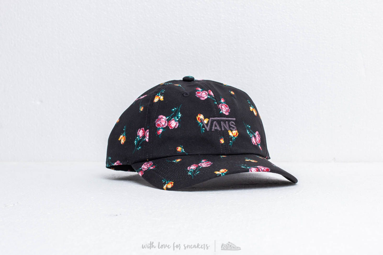 e2edf35561a Vans Court Side Print Cap Black  Satin Floral